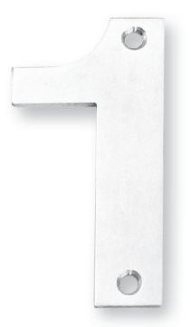 Inox 3 Inch House Number with Visible Screws