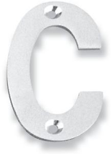 Inox 4 Inch House Letter with Visible Screws