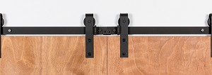Leatherneck Bi-Parting Barn Door Kit - Black - 402 Hanger Style
