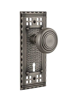 Nostalgic Warehouse Craftsman Plate with Deco Knob