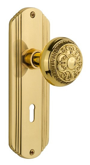 Nostalgic Warehouse Deco Plate with Egg & Dart Knob - Mortise Lock