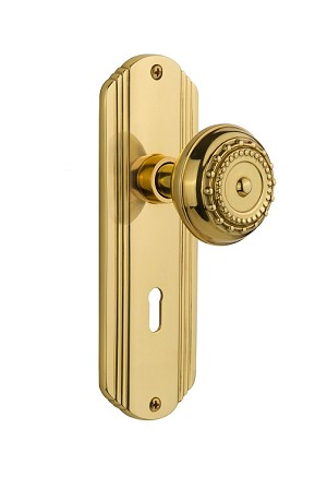 Nostalgic Warehouse Deco Plate with Meadows Knob - Mortise Lock