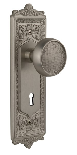 Nostalgic Warehouse Egg and Dart Plate with Craftsman Knob - Mortise Lock