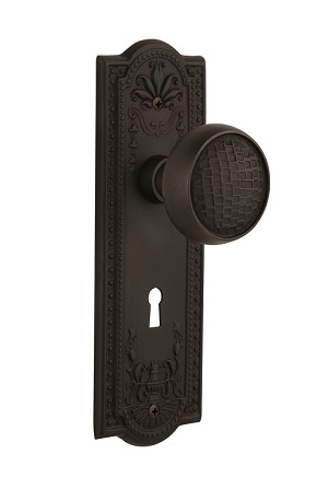 Nostalgic Warehouse Meadows Plate with Craftsman Knob - Mortise Lock