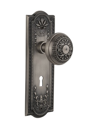 Nostalgic Warehouse Meadows Plate with Egg and Dart Knob - Mortise Lock