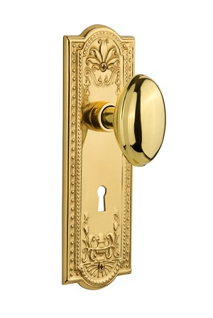 Nostalgic Warehouse Meadows Plate with Homestead Knob - Mortise Lock