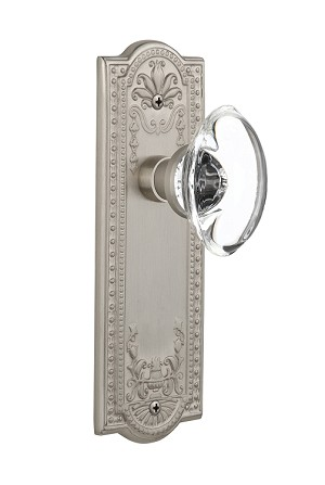 Nostalgic Warehouse Meadows Plate with Oval Clear Crystal Knob