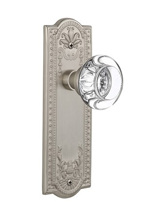 Nostalgic Warehouse Meadows Plate with Round Clear Crystal Knob