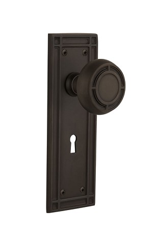 Nostalgic Warehouse Mission Plate with Mission Knob - Mortise Lock