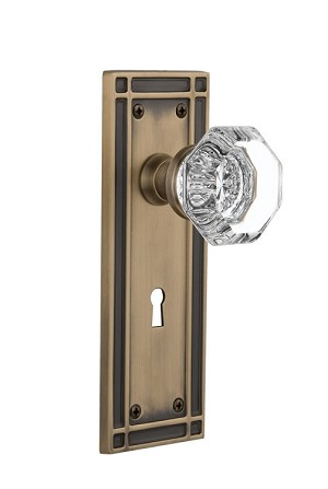 Nostalgic Warehouse Mission Plate with Waldorf Knob - Mortise Lock
