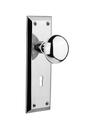 Nostalgic Warehouse New York Plate with New York Knob - Mortise Lock