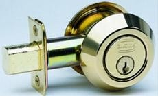 Omnia Style 0806 Double Cylinder Deadbolt with Modern Collar