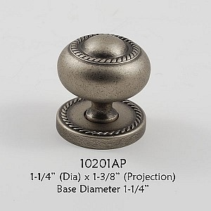 Residential Essentials 10201 Cabinet Knob in Aged Pewter