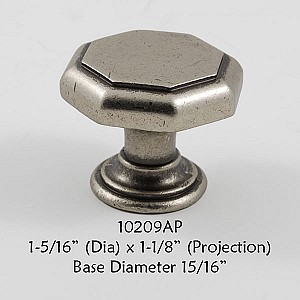 Residential Essentials 10209 Cabinet Knob in Aged Pewter