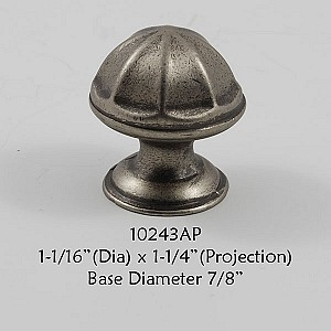 Residential Essentials 10243 Cabinet Knob in Aged Pewter