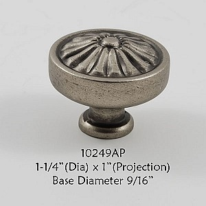 Residential Essentials 10249 Cabinet Knob in Aged Pewter