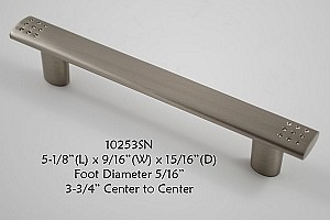 Residential Essentials 10253 Cabinet Pull in Satin Nickel