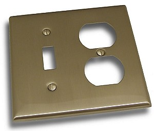 Residential Essentials Switch and Plug Combo Plate