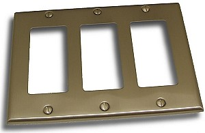 Residential Essentials Triple Lever/GFI Outlet Plate