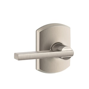 Schlage Latitude Modern Lever Handle with Greenwich Rosette