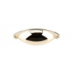 Top Knobs Somerset 2 1/2 Inch CC Cup Pull - Polished Brass