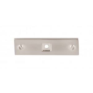 Top Knobs TK741BSN Channing 3 inch Backplate - Brushed Satin Nickel