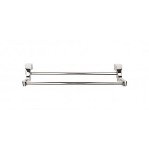 Top Knobs AQ11PN Aqua 30 inch Double Towel Bar - Polished Nickel