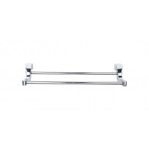 Top Knobs AQ7PC Aqua 18 inch Double Towel Bar - Polished Chrome