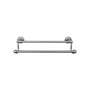 Top Knobs ED11APD Edwardian 30 inch Double Towel Bar - Antique Pewter