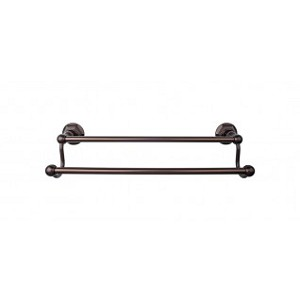 Top Knobs ED11ORBB Edwardian 30 inch Double Towel Bar - Oil Rubbed Bronze