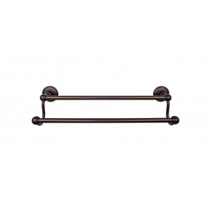 Top Knobs ED11ORBD Edwardian 30 inch Double Towel Bar - Oil Rubbed Bronze