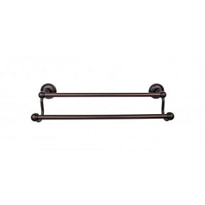 Top Knobs ED11ORBE Edwardian 30 inch Double Towel Bar - Oil Rubbed Bronze