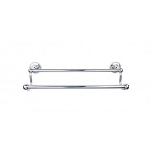 Top Knobs ED11PCA Edwardian 30 inch Double Towel Bar - Polished Chrome