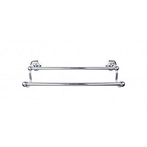 Top Knobs ED11PCB Edwardian 30 inch Double Towel Bar - Polished Chrome