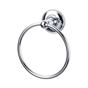 Top Knobs ED5PCD Edwardian Smooth Towel Ring - Polished Chrome