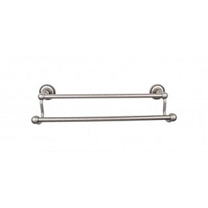 Top Knobs ED7APA Edwardian 18 inch Double Towel Bar - Antique Pewter