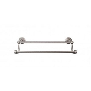 Top Knobs ED7APB Edwardian 18 inch Double Towel Bar - Antique Pewter
