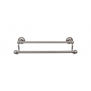 Top Knobs ED7APE Edwardian 18 inch Double Towel Bar - Antique Pewter