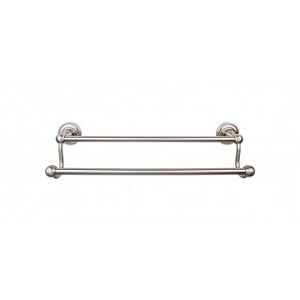 Top Knobs ED7BSNF Edwardian 18 inch Double Towel Bar - Brushed Satin Nickel