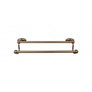 Top Knobs ED7GBZC Edwardian 18 inch Double Towel Bar - German Bronze