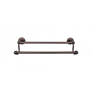 Top Knobs ED7ORBA Edwardian 18 inch Double Towel Bar - Oil Rubbed Bronze