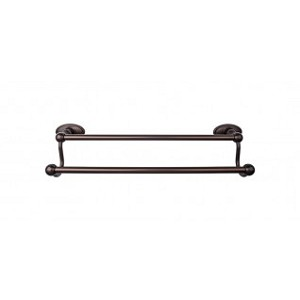 Top Knobs ED7ORBC Edwardian 18 inch Double Towel Bar - Oil Rubbed Bronze