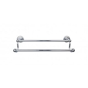 Top Knobs ED7PCF Edwardian 18 inch Double Towel Bar - Polished Chrome