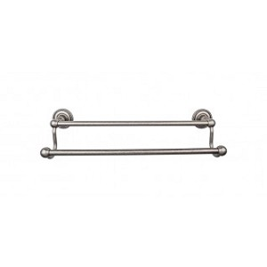 Top Knobs ED9APF Edwardian 24 inch Double Towel Bar - Antique Pewter