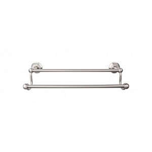 Top Knobs ED9BSNB Edwardian 24 inch Double Towel Bar - Brushed Satin Nickel