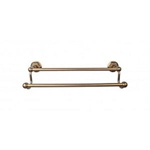 Top Knobs ED9GBZB Edwardian 24 inch Double Towel Bar - German Bronze