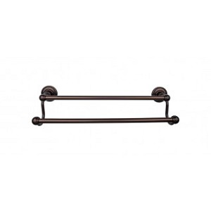 Top Knobs ED9ORBF Edwardian 24 inch Double Towel Bar - Oil Rubbed Bronze