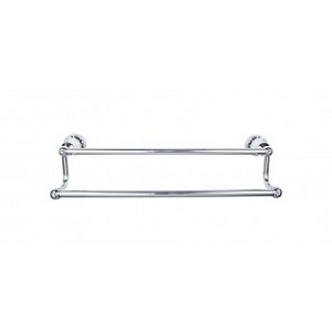 Top Knobs HUD7PC Hudson 18 inch Double Towel Bar - Polished Chrome