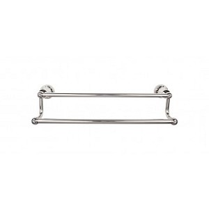 Top Knobs HUD7PN Hdson 18 inch Double Towel Bar - Polished Nickel