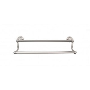 Top Knobs HUD9BSN Hudson 24 inch Double Towel Bar - Brushed Satin Nickel